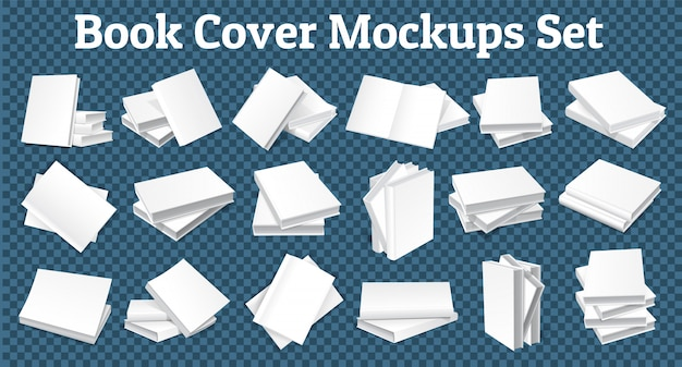 Book cover mockups set