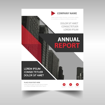 Book cover template for annual report