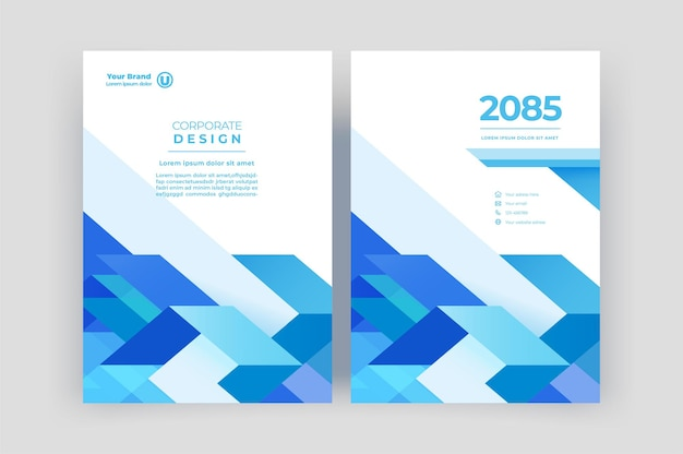 Book cover template  for brochure annual report magazine  corporate presentation  flyer layout