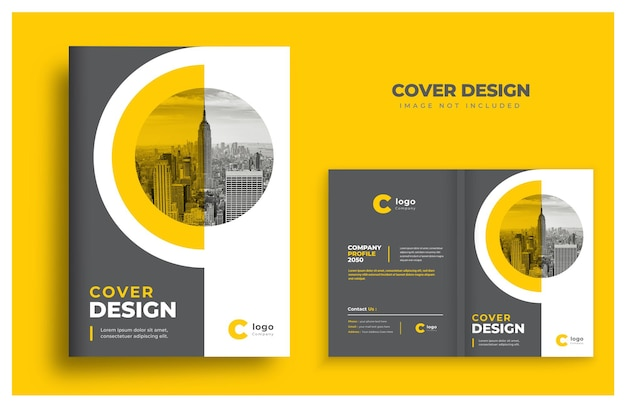 Book cover template design brochure cover design