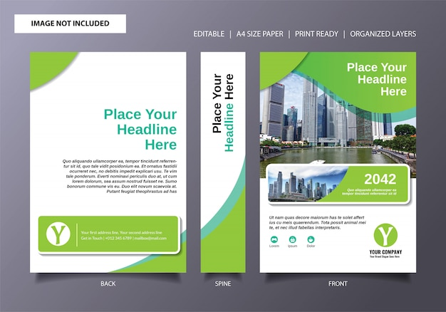 Book cover template fresh green