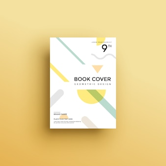 Book cover with geometric shapes