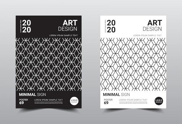Book creative minimal design template.