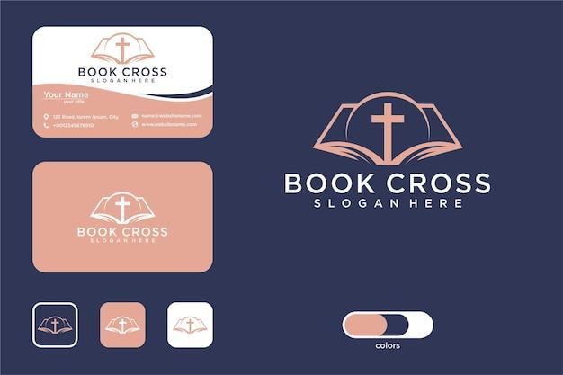 Book cross logo design and business card