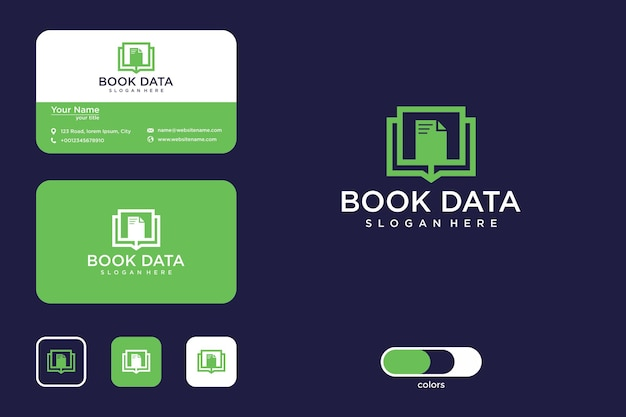 Book data logo design and business card