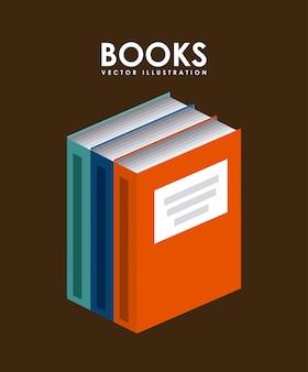 Book design over brown background vector illustration