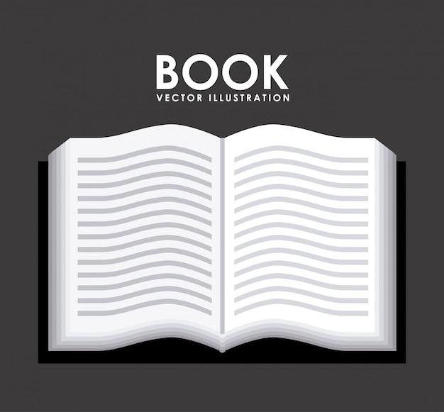 Book design over gray background vector illustration