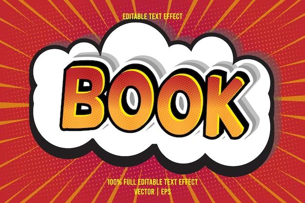 Редактируемый текстовый эффект книги