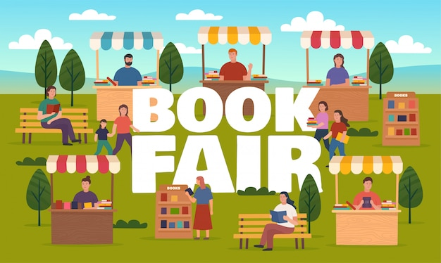 Book fair on street,