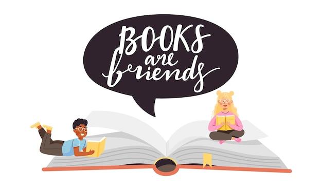 Book festival illustration.