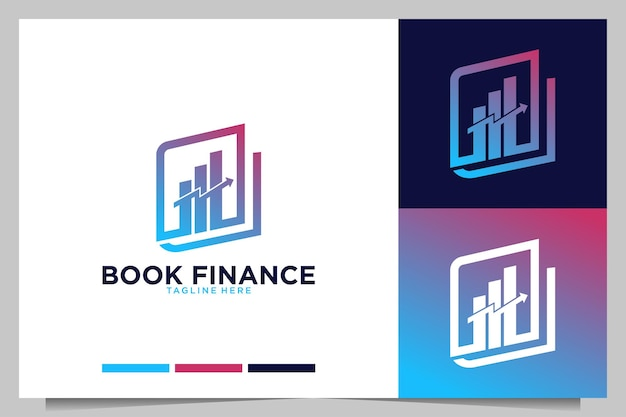 Book finance and investment logo design