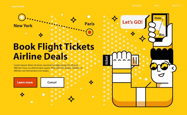 Book flight tickets airline deals.
