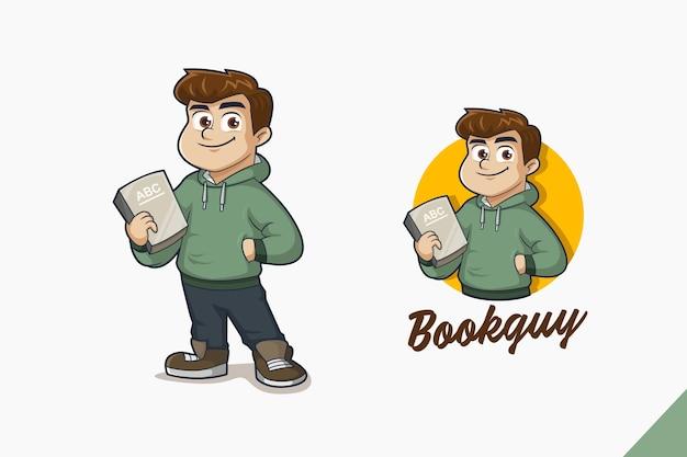 Book guy logo