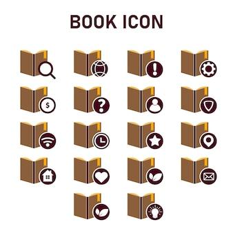 책 아이콘 디자인입니다. 평면 디자인 스타일 아이콘 개념
