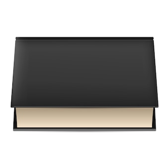 黒い表紙の本。