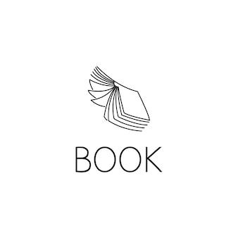 本のロゴのグラフィックデザインのコンセプト。編集可能な本の要素は、ロゴタイプ、アイコン、webおよび印刷のテンプレートとして使用できます