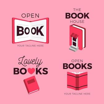 책 로고 팩 평면 디자인