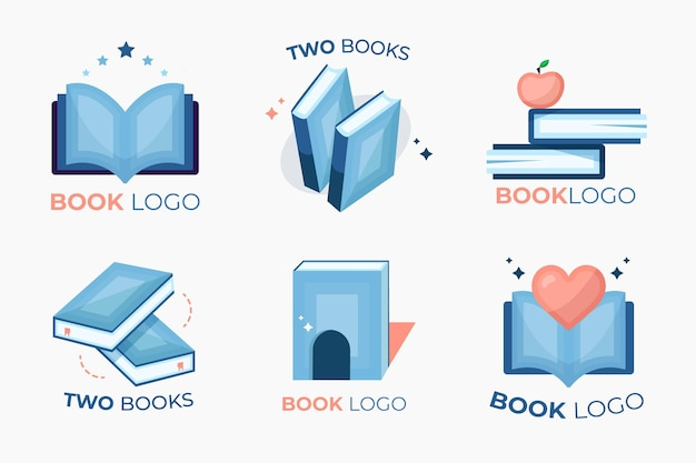 Book logo template collection