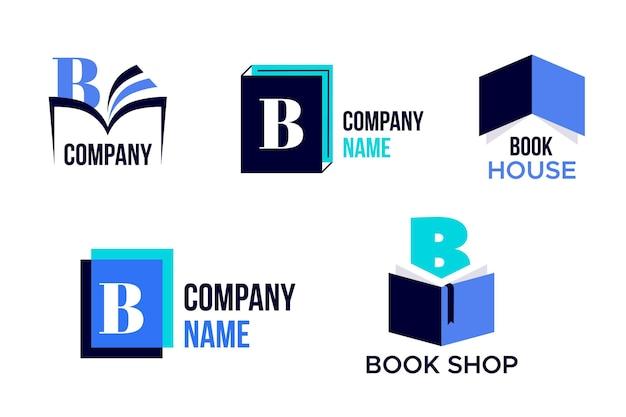 Пакет шаблонов логотипа книги