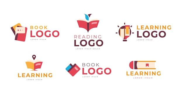 Book logo template pack
