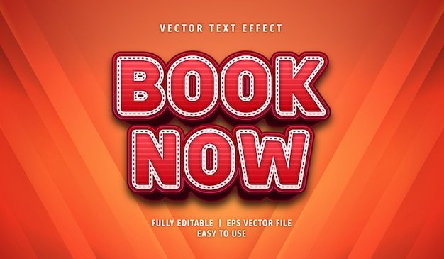 Book now text effect editable style