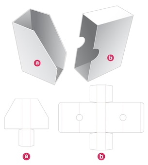 Book packaging box with cover die cut template