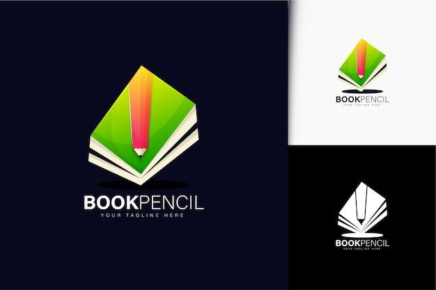 Book and pencil logo design