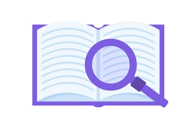 Book review, reading club concept. vector illustration