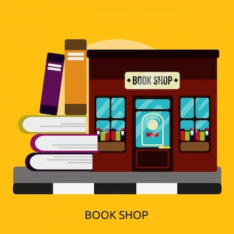 Book shop background design