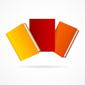 白い背景で隔離の本のスタック。図