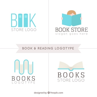 Book store logo collection