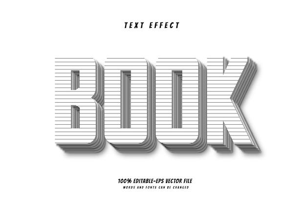 Книжный текстовый эффект дизайн вектор 100% редактируемый векторный файл eps слова и шрифты могут быть изменены.