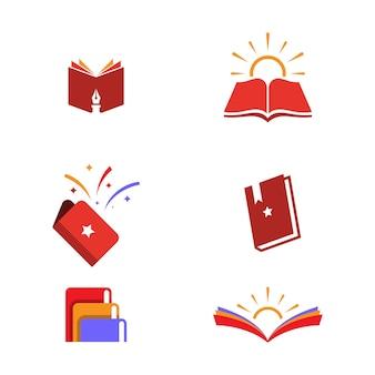 Book vector icon design illustration template