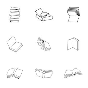 Book vector. simple book illustration, editable elements, can be used in logo design
