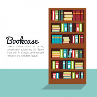 Bookcase isolated design