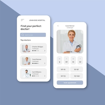 Booking app for medical