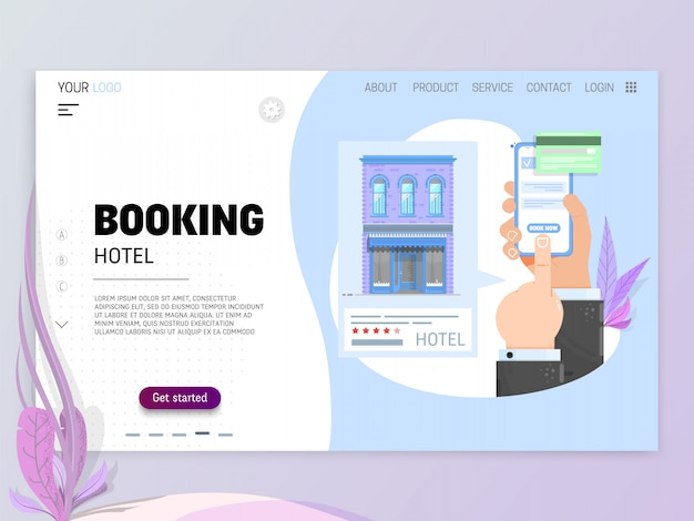 Booking hotel concept.