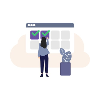 Booking, online booking icon, computer graphics, selection icon, making a reservation, ordering, adult, human hand, lady shopping online, people