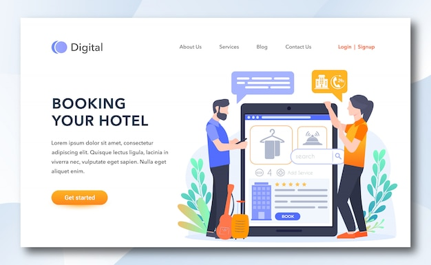 Booking your hotel landing page template
