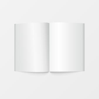 인쇄용 소책자 공백 흰색
