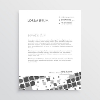 Booklet with black and white squares