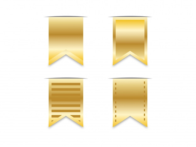 Bookmark gold ribbon.