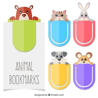 bookmarks with animal themes