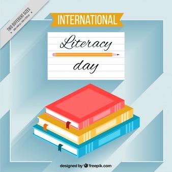 Books background of international literacy day