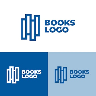 Books logo set in different colors