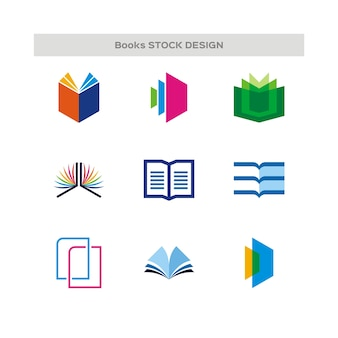 Books logo set