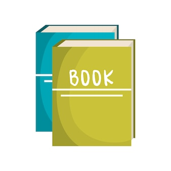 Books school isolated icon vector illustration design