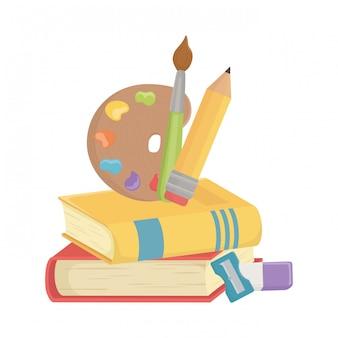 Books and school supplies design