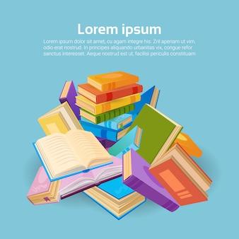 Books stack school education concept