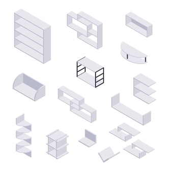 Bookshelf isometric
